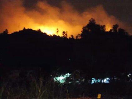 Kebakaran Hutan di Piayu beberapa waktu yang lalu