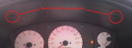 Baut Panel Penutup Speedo Lancer