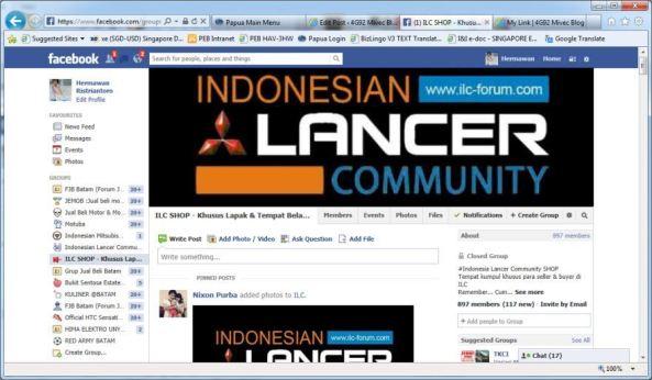Group ILC Shop di Facebook