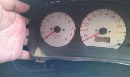 Speedometer tinggal ditarik aja...