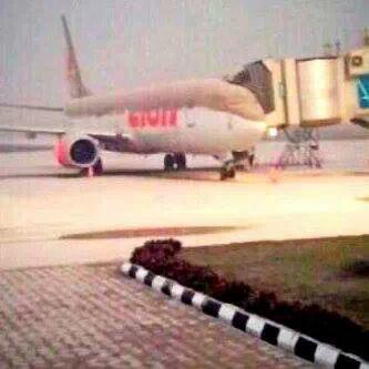 Abu Kelud di Bandara