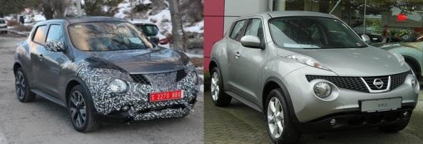 Juke Facelift vs Juke