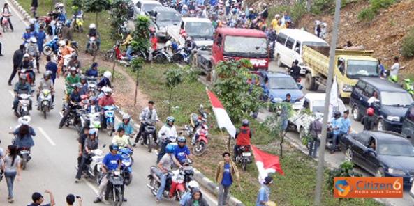 Lalu lintas Batam  kalau terjadi kecelakaan/kemacetan