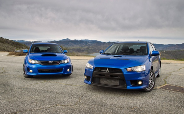 Lancer Evo X vs Subaru WRX