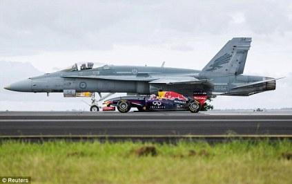 Red Bull F1 vs F-18 Hornet