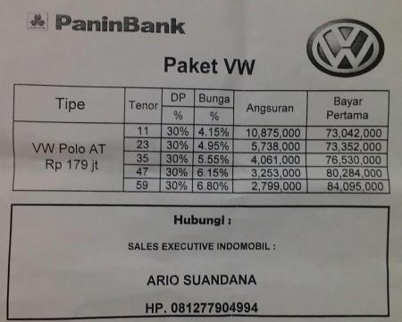 Harga VW Polo 1.4 MPI