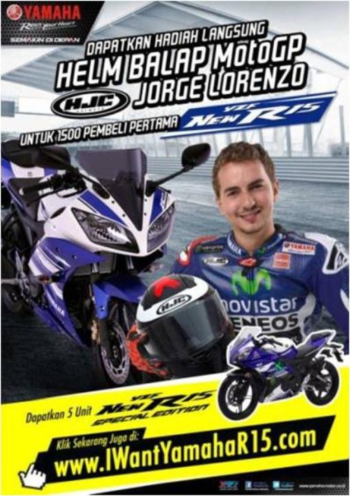 1500 Pembeli Pertama R15 dapat Helm Lorenzo