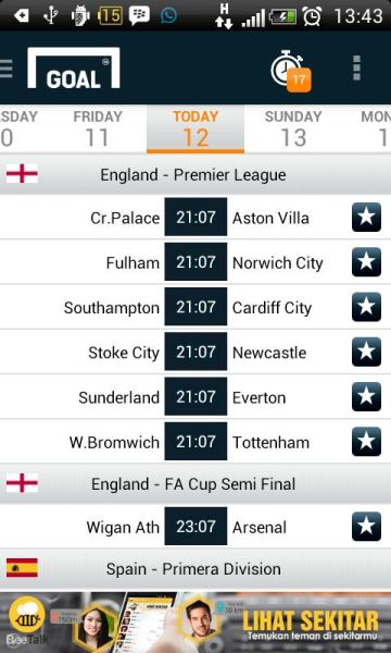 Kick Off Liga Inggris di undur 7 menit