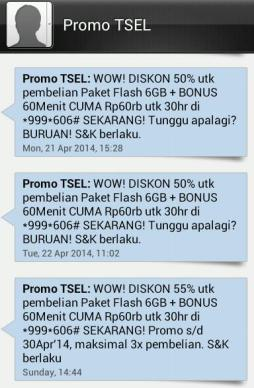 SMS Promo Telkomsel