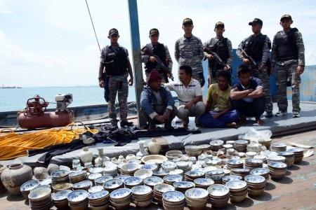 """Harta Karun"" Sitaan Polisi Laut April 2014 lalu"