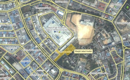 Lokasi Masjid Jabal Arafah