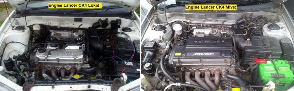 Engine Lancer CK4 Lokal vs Mivec