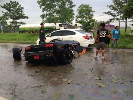 Lamborghini Gallardo Crash