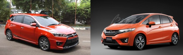 All New Yaris 2014 vs All New Jazz 2014