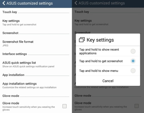 ASUS Customized Setting