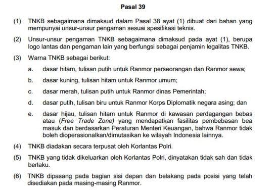 Pasal 39 Peraturan Kepala Kepolisian
