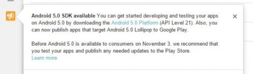 Tanggal release Android 5.0
