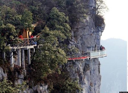 Jembatan Kematian di Gunung Gunung Tianmen, Zhangjiajie