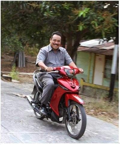 Walikota Batam menggunakan Motor tanpa Plat Nomor