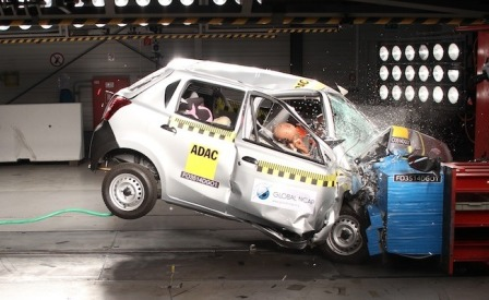 Datsun Go HB crash test