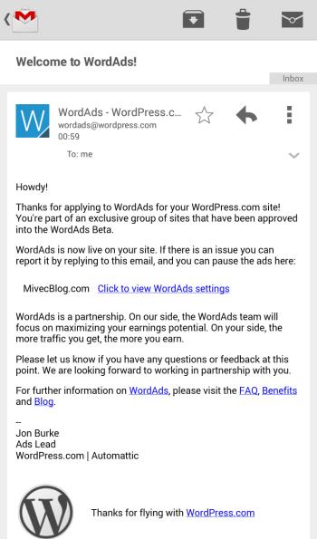 Email dari WA Team