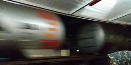 Kereta Api ketika melewati Bakso President