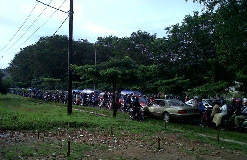 Salah satu kemacetan di Jalan S. Parman Piayu