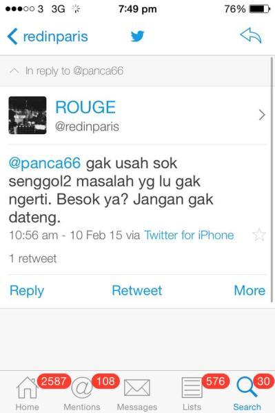 Twitwar Panca dan Rouge