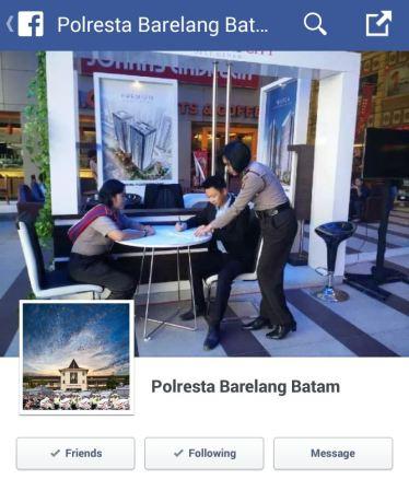 Facebook Polresta Barelang