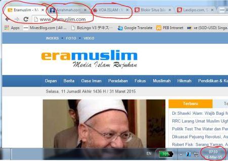 Beberapa Situs Yang Sudah Diblokir