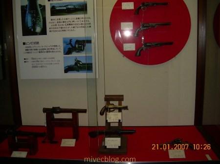 Beberapa Senjata yang dipajang di dalam Matsumoto Castle