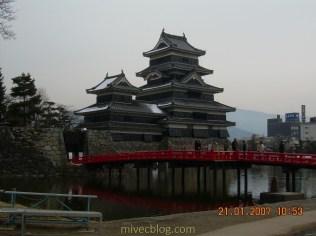 Matsumoto Castle di Musim Dingin