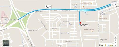 Peta ke Sate kendal - Dari arah Awal Bros