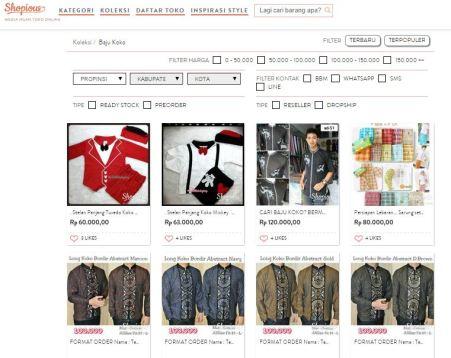 Salah satu koleksi Shopious.com