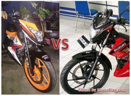Sonic 150R vs Satria F150