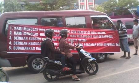 5 tuntutan sopir angkot Batam