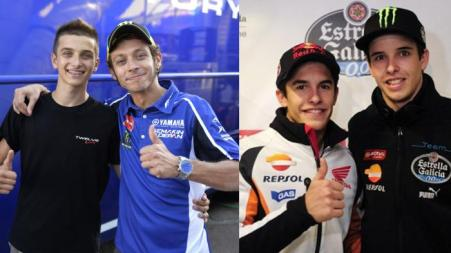 Rossi vs Marquez = Marini vs Alex Marquez