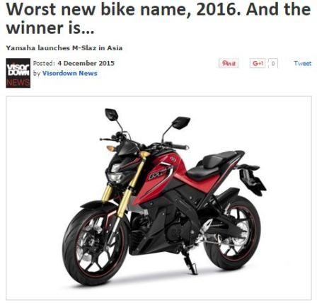 Worst New Bike Name...