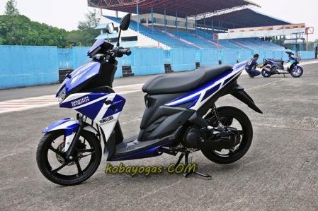 Aerox 125 LC Livery Yamaha Racing Factory Indonesia
