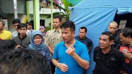 Walikota Rudi dan Jajarannya meninjau Longsor Bukit Kemuning