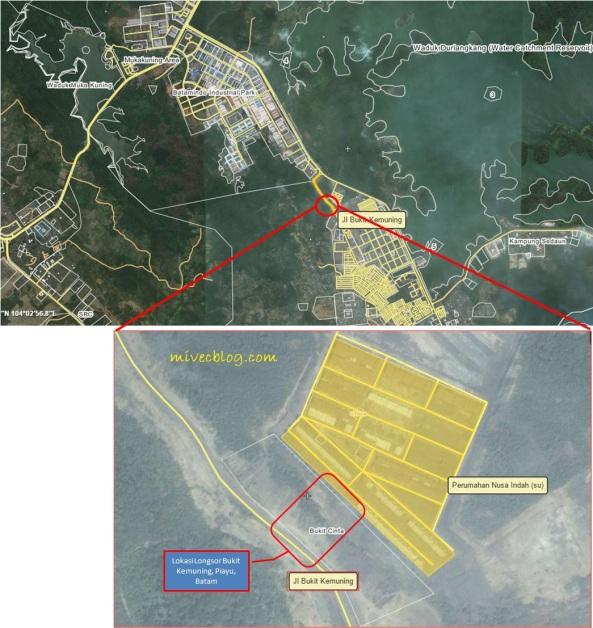Peta Lokasi Longsor Bukit Kemuning
