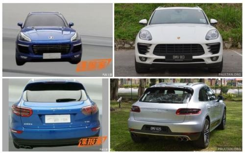 Zotye T700 vs Porsche Macan 2