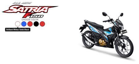 All New Satria F150 Brilliant White - Solid Black