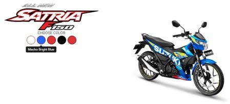 All New Satria F150 Macho Bright Blue