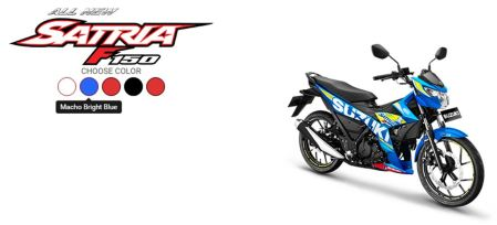 All New Satria F150 Macho Bright Blue