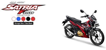 All New Satria F150 Stronger Red - Titan Black