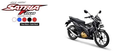 All New Satria F150 Titan Black - Solid Black