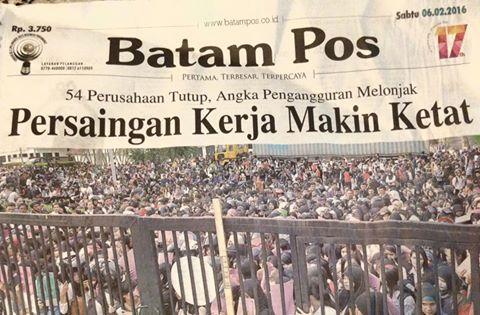 Perusahaan di Batam tutup