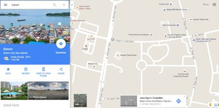 Google maps Batam