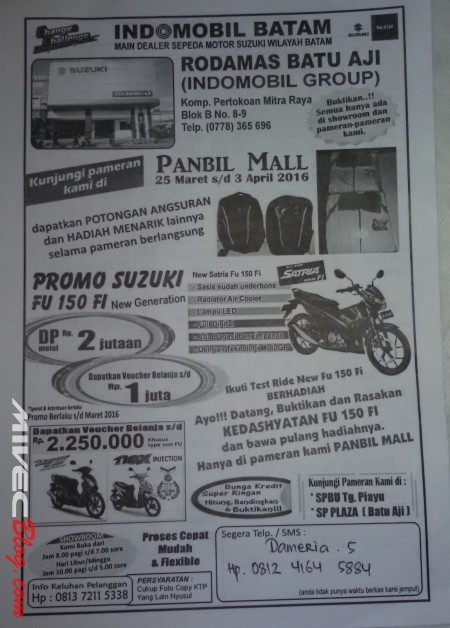 Harga Satria F150 Batam (4)